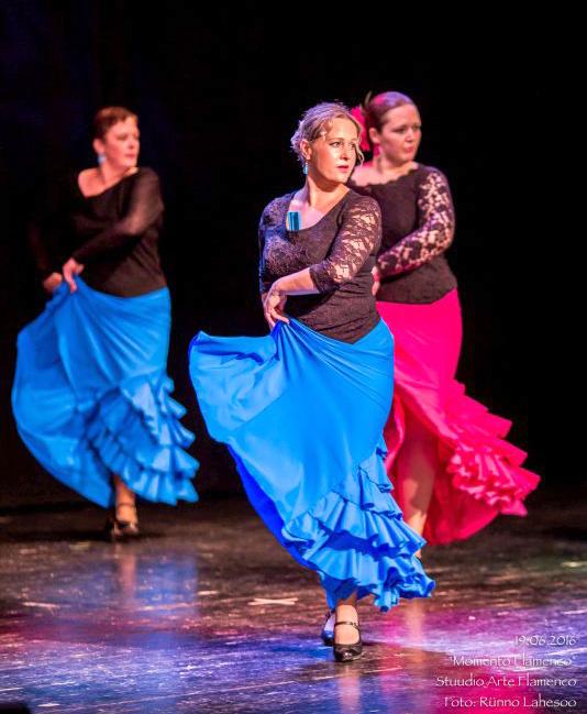 Arte Flamenco II kursus etenduses Momento Flamenco Lindakivi Kultuurikeskuses (2016)